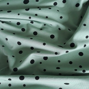 PRINTED FRENCH TERRY - DOTS ON SMOKE MINT