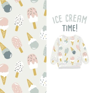 *neue Version - SOMMERSWEAT DIGITALPRINT - Pastell-Eiscreme, cones